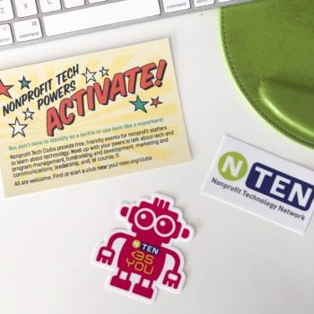 Nonprofit tech clubs promotional items. Learn about SEO for nonprofits and more through clubs like these and marketing agencies like Online Optimism.