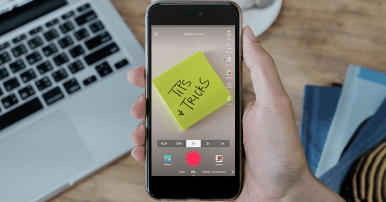 A mobile phone recording a video of tips and tricks, a useful way for some businesses to TikTok.