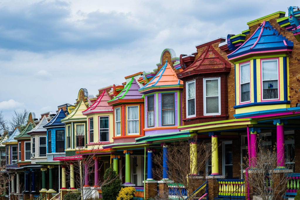 Get a Baltimore Digital Marketing Agency that Produces Websites as Beautiful as these Colorful Houses
