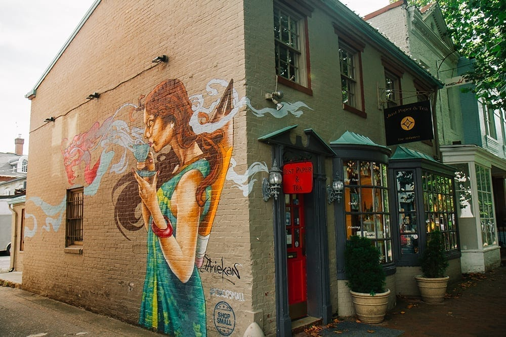 Colorful Mural on Just Paper and Tea